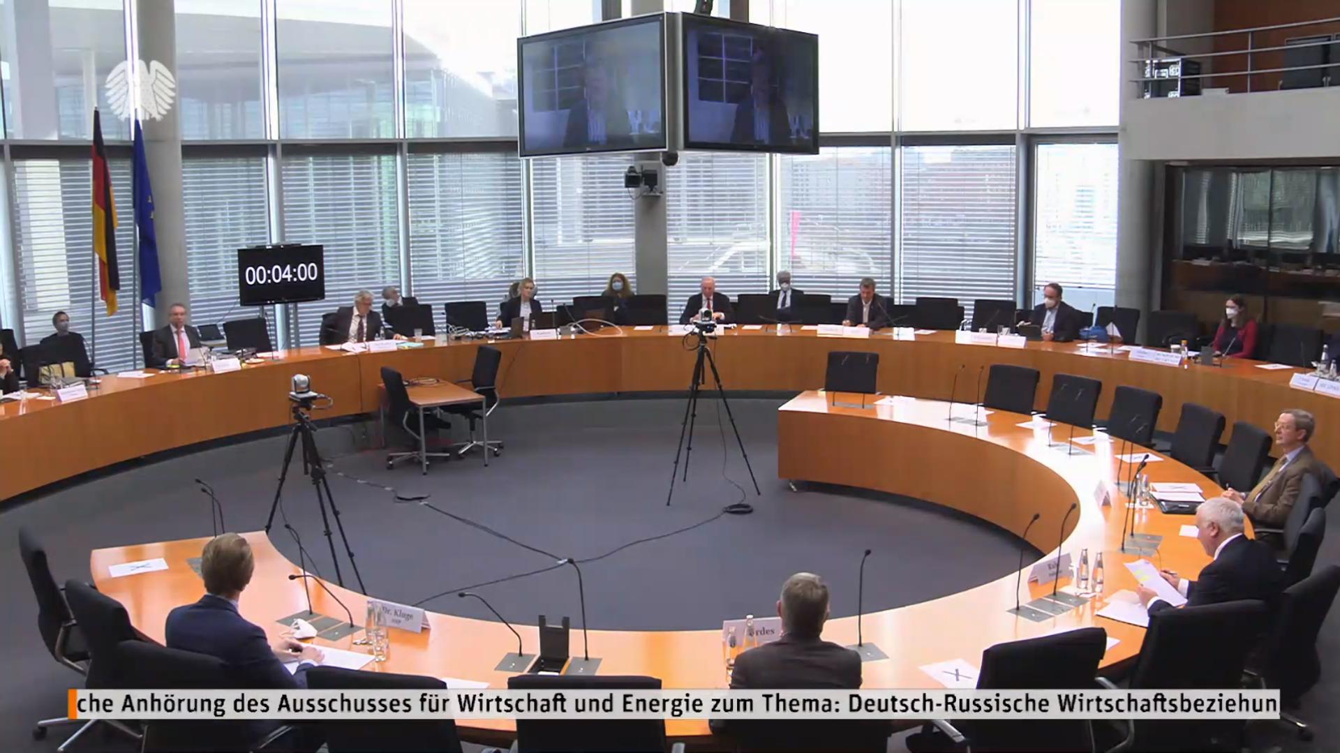 """Anhörung """"Entwicklung der Deutsch-Russischen Wirtschaftsbeziehungen"""" im Bundestag, den 24. Februar 2021 - SNA, 1920, 24.02.2021"""