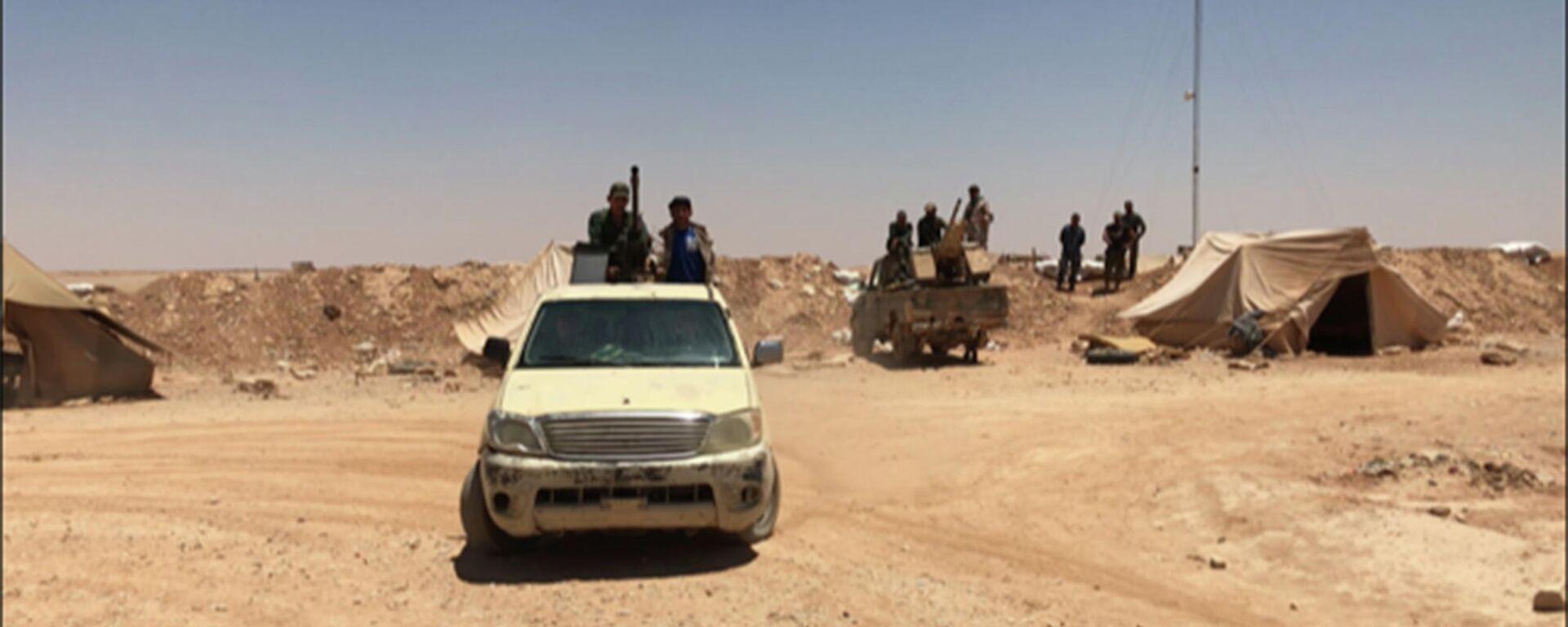 Syrische Regierungstruppen an der Grenze zu dem Irak  - SNA, 1920, 27.09.2021