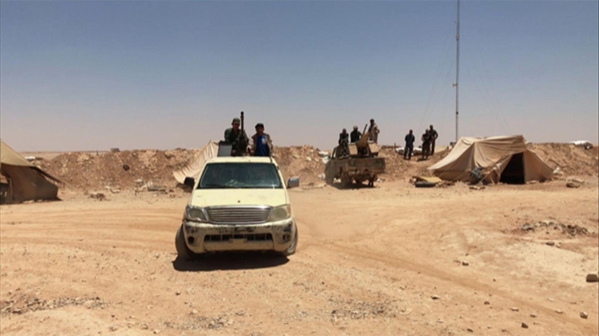 Syrische Regierungstruppen an der Grenze zu dem Irak  - SNA, 1920, 19.07.2021