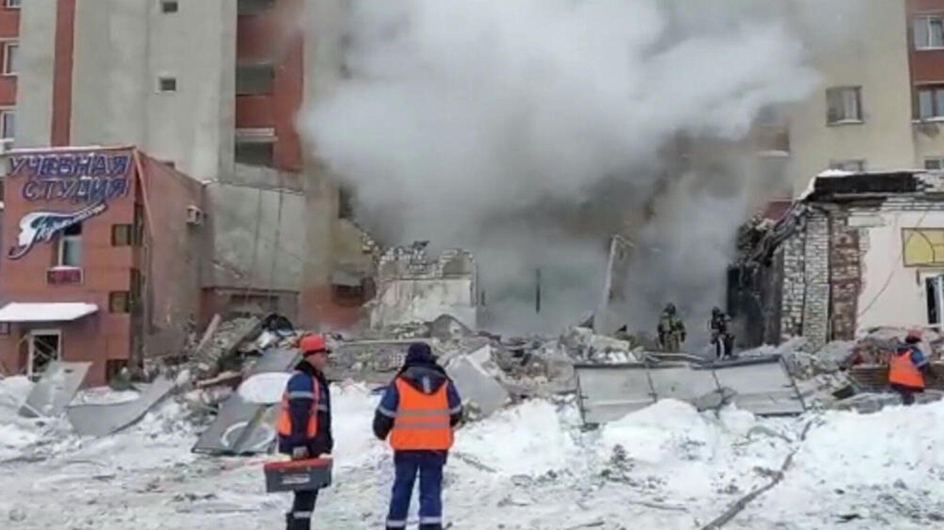 Verbrauchergas-Explosion in der zentralrussischen Stadt Nischni Nowgorod  - SNA, 1920, 26.02.2021