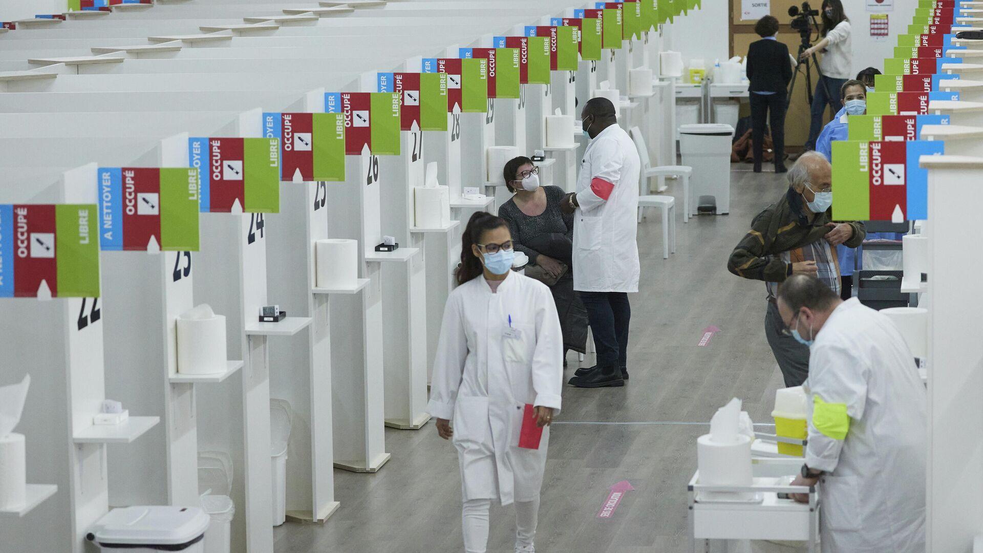 Impfzentrum in Genf, 3. Februar 2021 - SNA, 1920, 26.02.2021