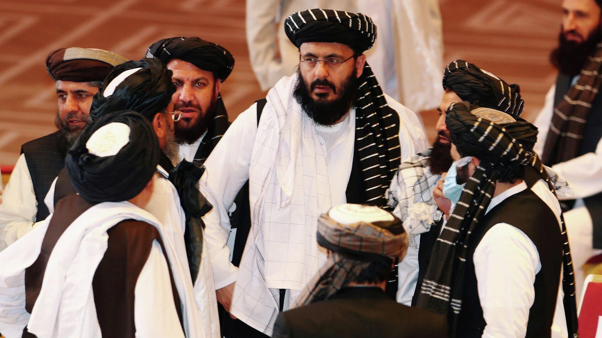 Vertreter der afghanischen Regierung und der Taliban-Bewegung verhandeln in Katar. Doha, 12. September 2020 - SNA, 1920, 26.02.2021