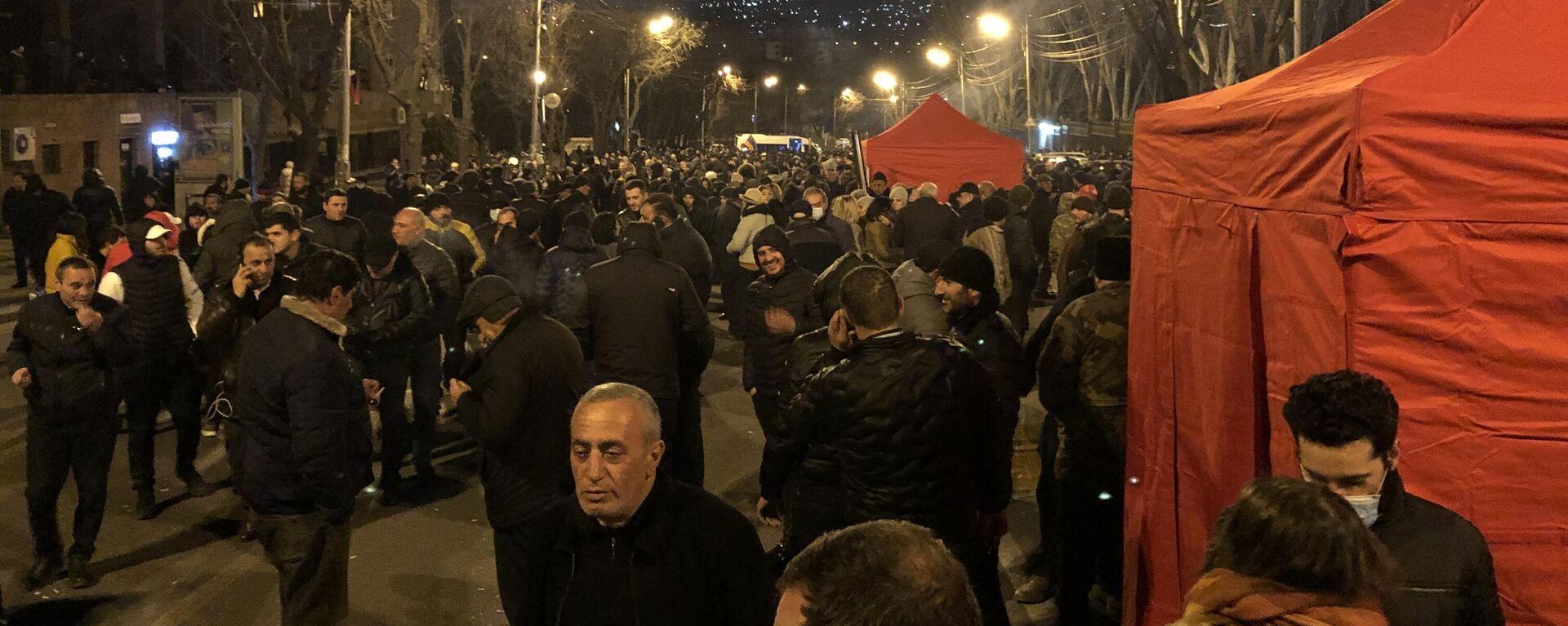 Zeltlager der Opposition in Jerewan - SNA, 1920, 27.02.2021