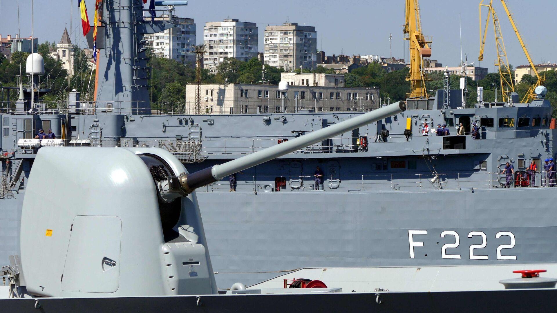 Fregatte der rumänischen Marine im Rahmen der Nato-Militärübungen Sea Breeze-2020 - SNA, 1920, 27.02.2021