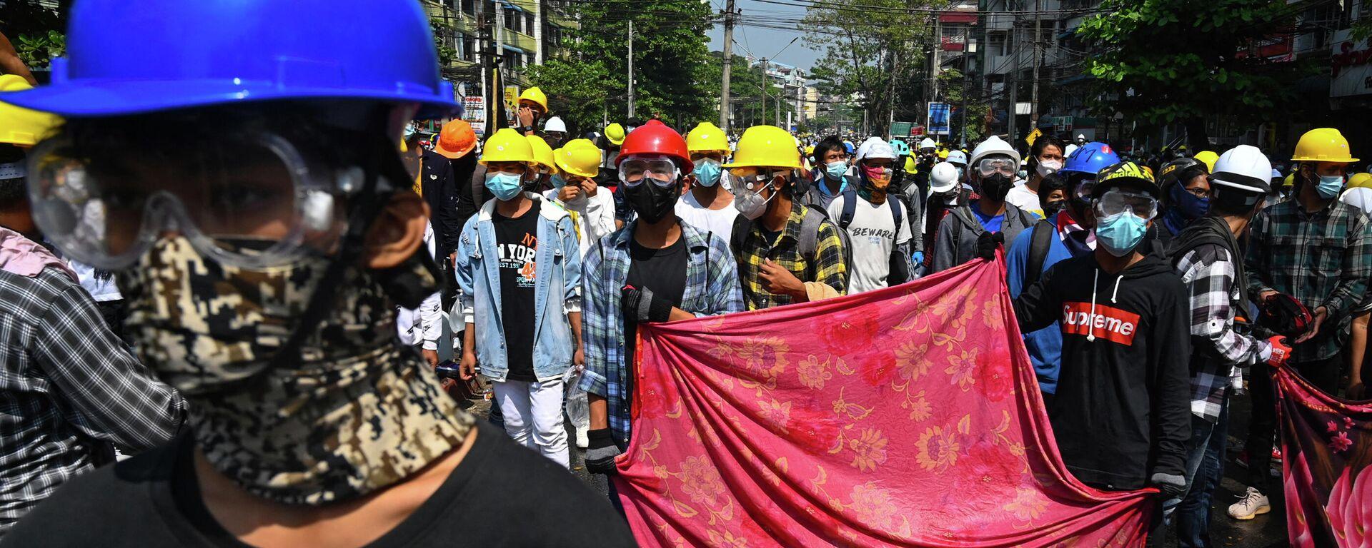 Proteste in Myanmar - SNA, 1920, 01.08.2021