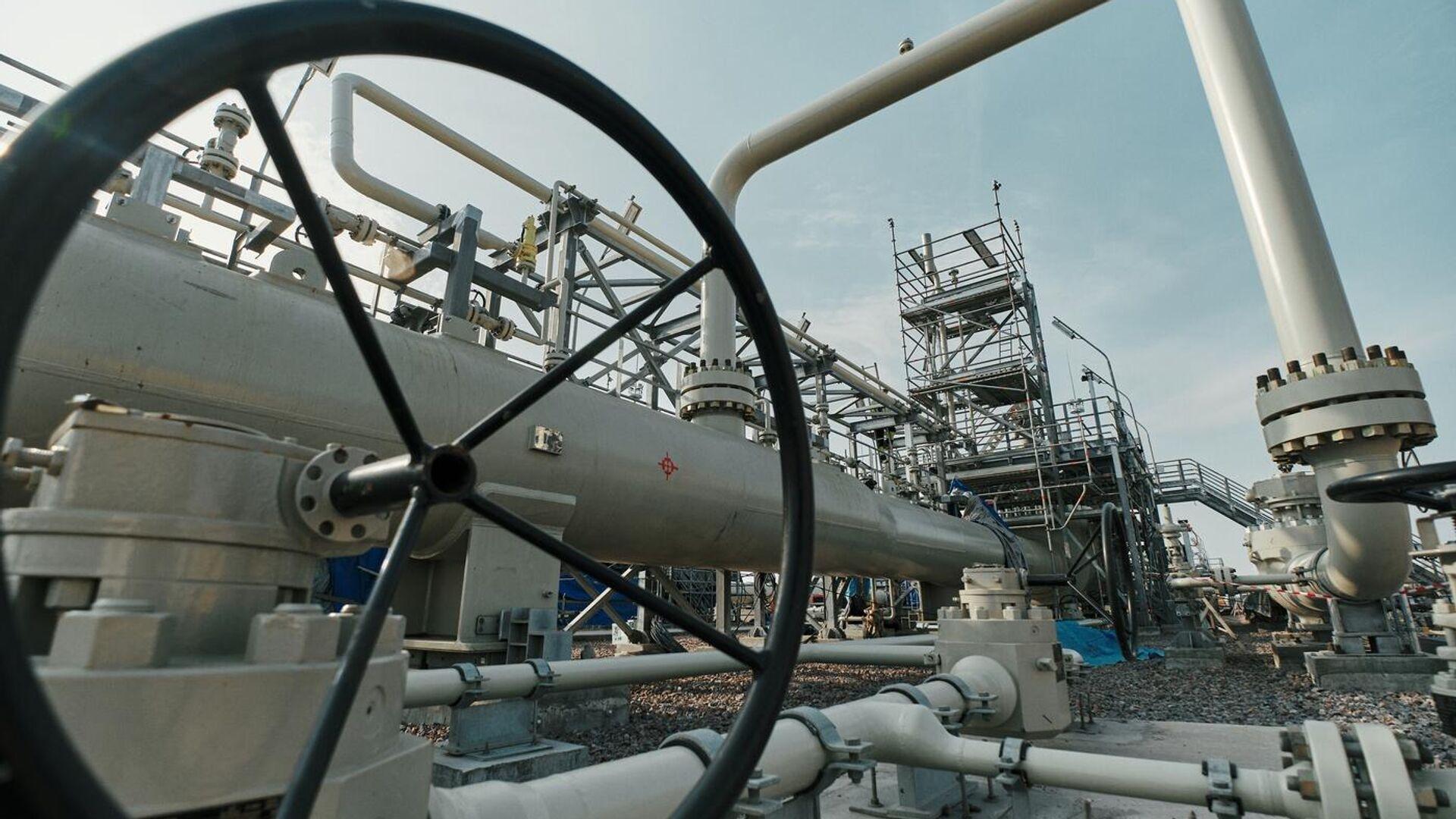 Vorbereitung der Anlagen an der russischen Anlandestation für den Betrieb im Rahmen des Gaspipeline-Projekts Nord Stream 2 - SNA, 1920, 08.05.2021