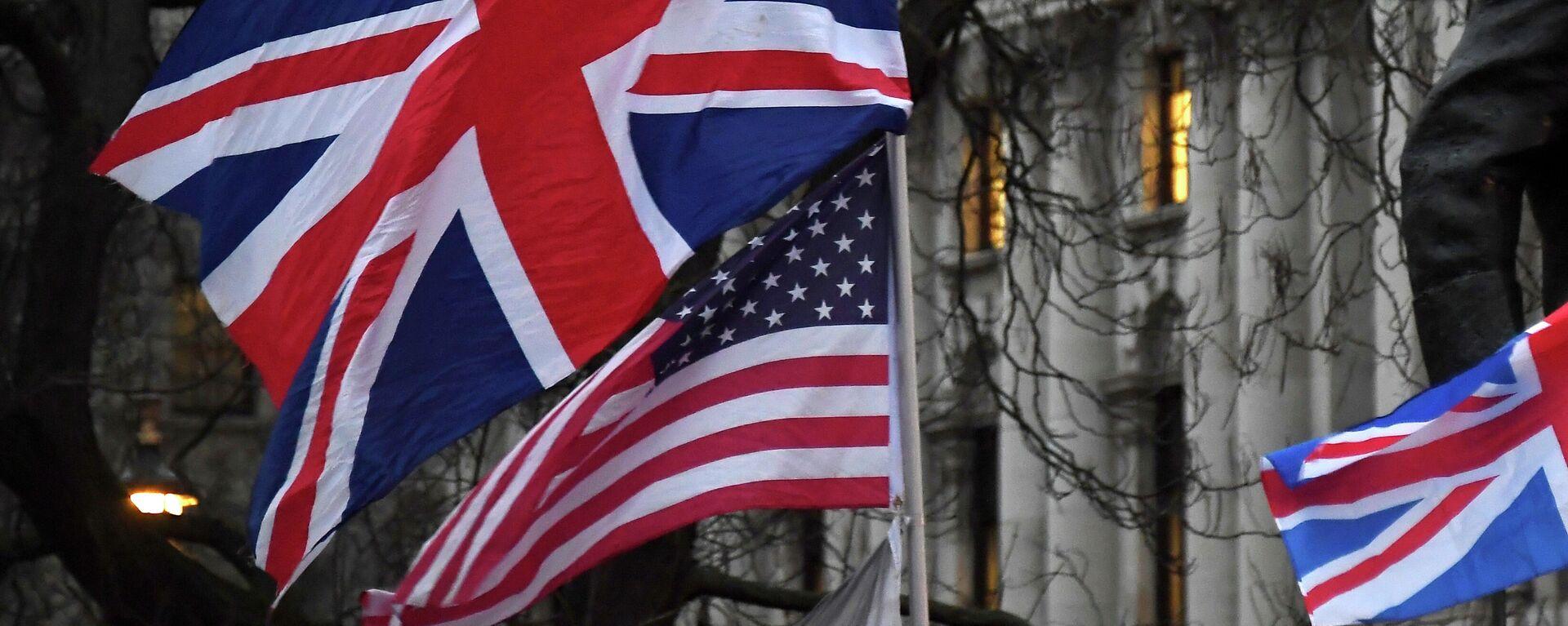 US- und britische Flaggen  - SNA, 1920, 05.03.2021