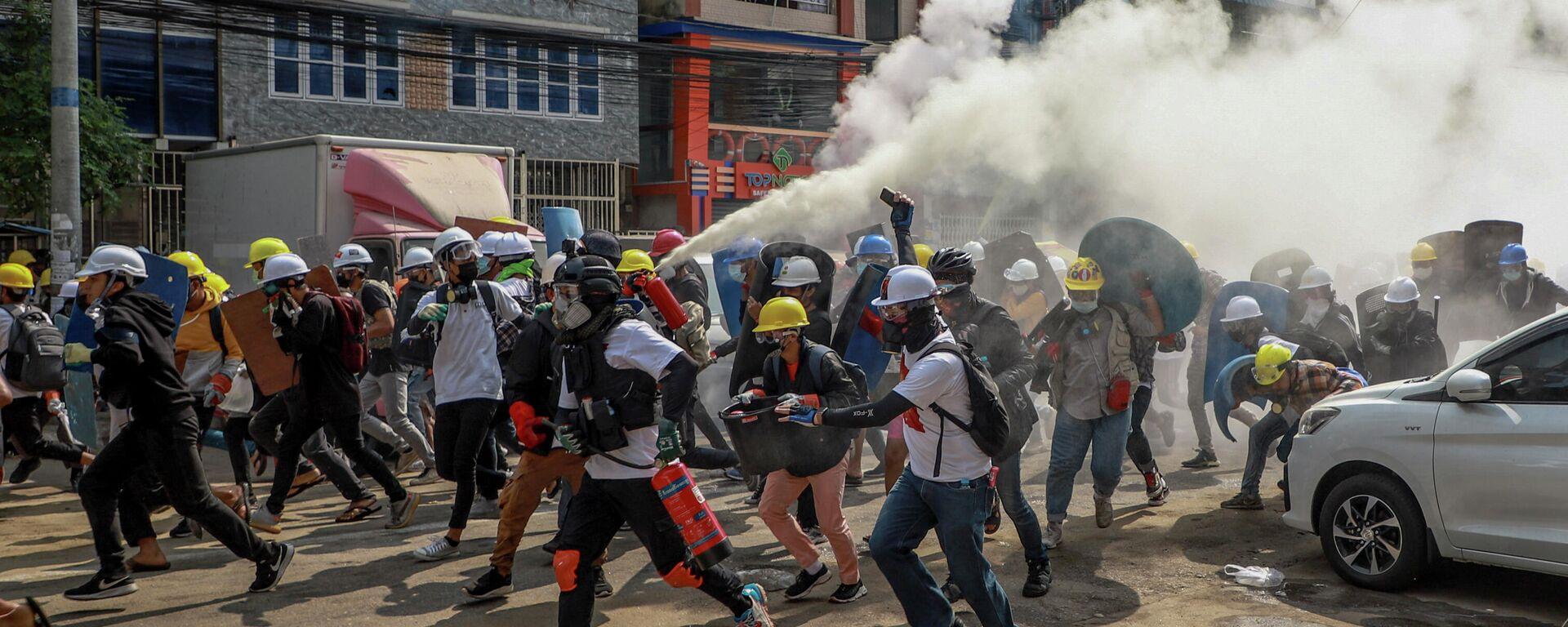 Proteste in Myanmar. Yangon, 3. März 2021 - SNA, 1920, 11.08.2021