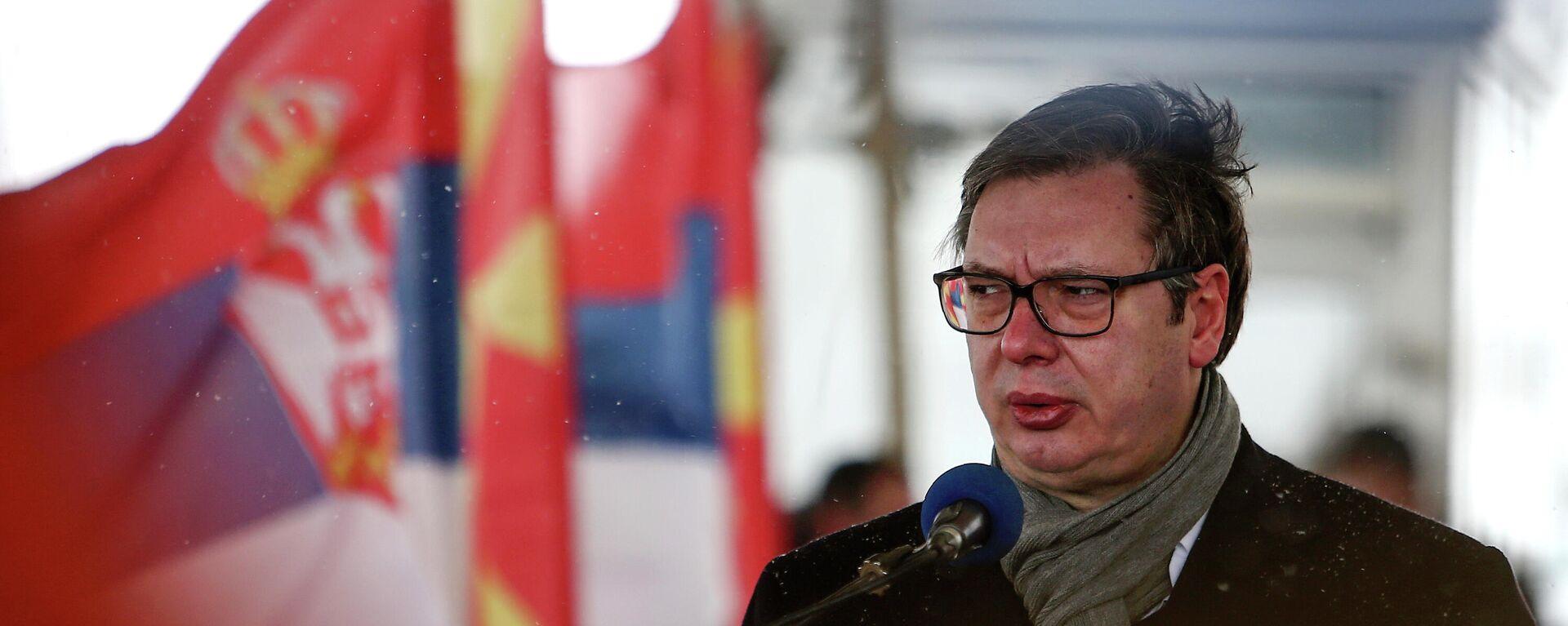 Serbiens Präsident Aleksandar Vucic - SNA, 1920, 07.03.2021