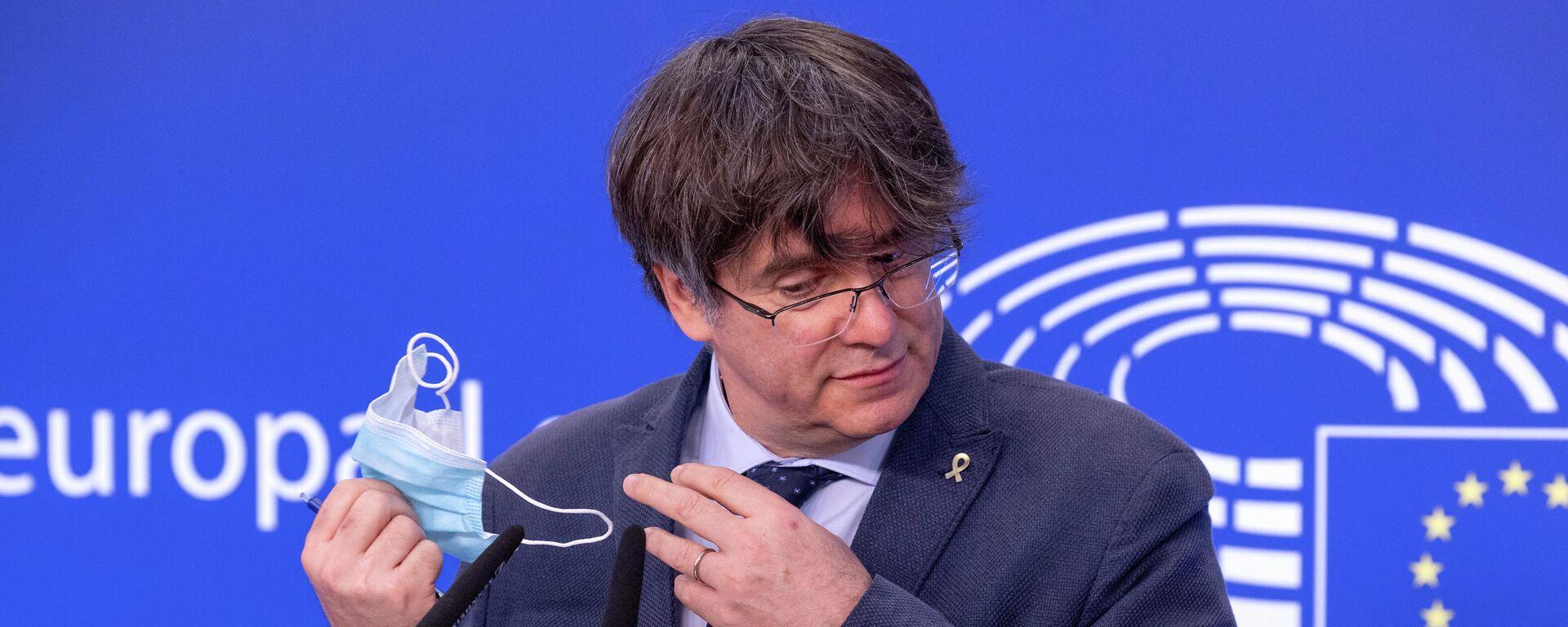 Carles Puigdemont im EU-Parlament in Brüssel - SNA, 1920, 24.09.2021