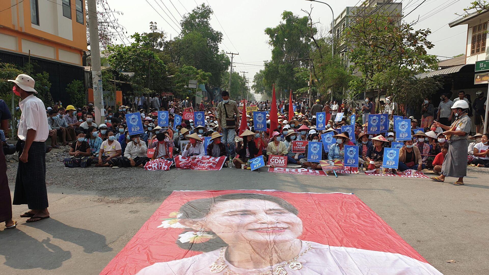 Protestaktion in Mandalay am 10. März 2021 - SNA, 1920, 10.03.2021