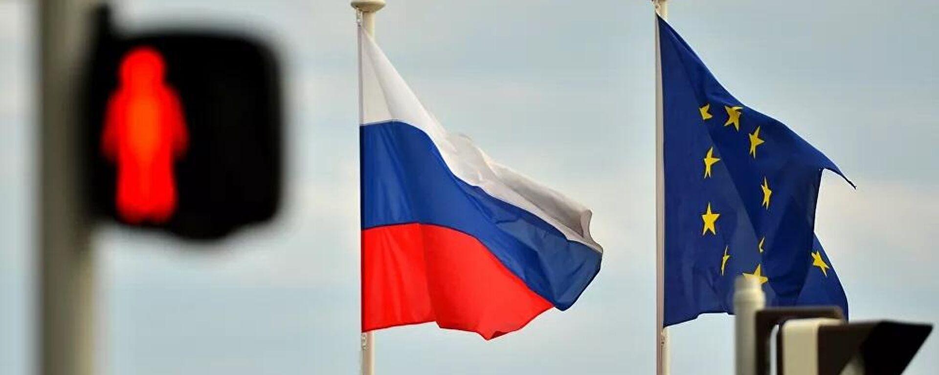 Flagge Russlands und der EU - SNA, 1920, 25.06.2021