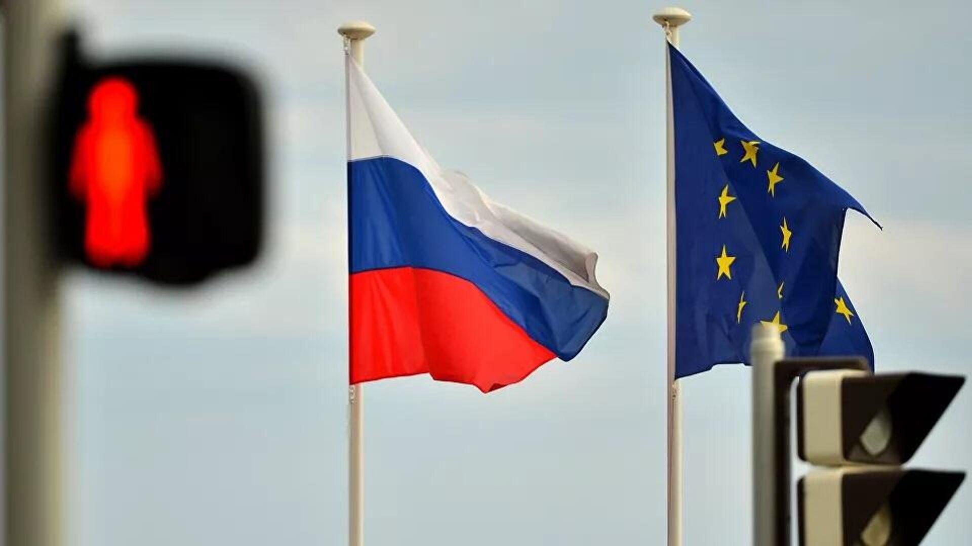 Flagge Russlands und der EU - SNA, 1920, 02.07.2021