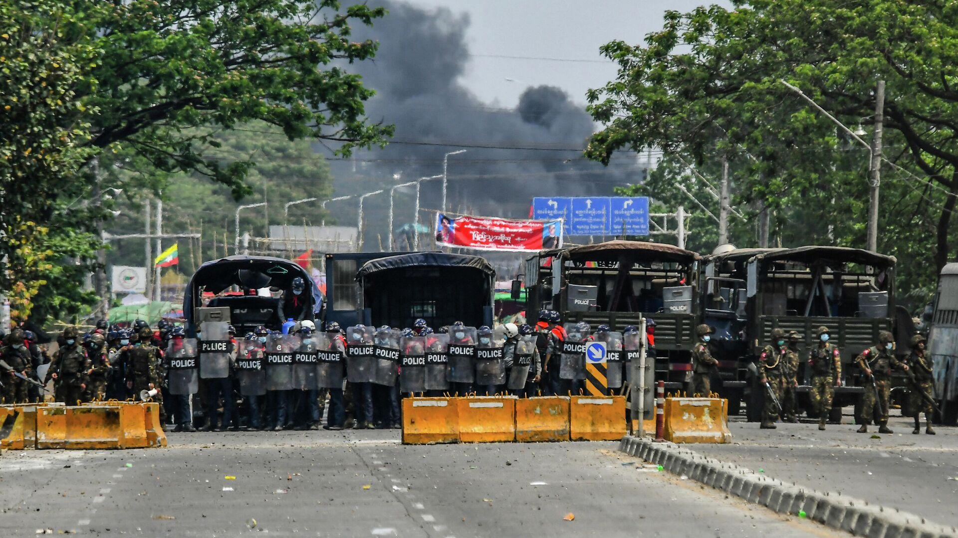 Proteste in Myanmar, 14. März - SNA, 1920, 07.04.2021