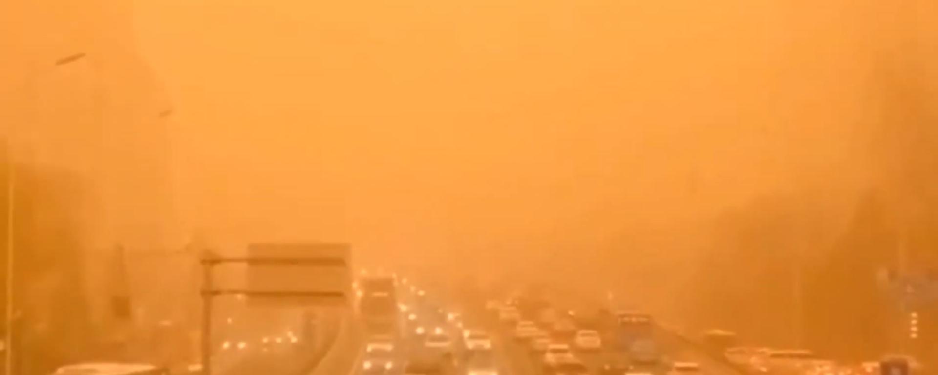 Stärkster Sandsturm seit einem Jahrzehnt: Staub aus Wüste Gobi sorgt in China für Chaos - SNA, 1920, 15.03.2021