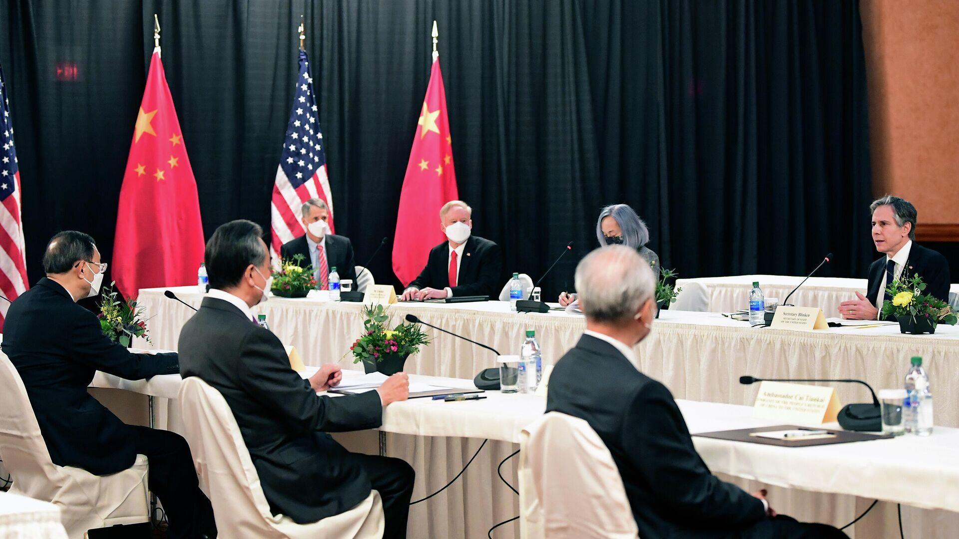 Treffen China-USA in Anchorage, 18. März - SNA, 1920, 19.03.2021