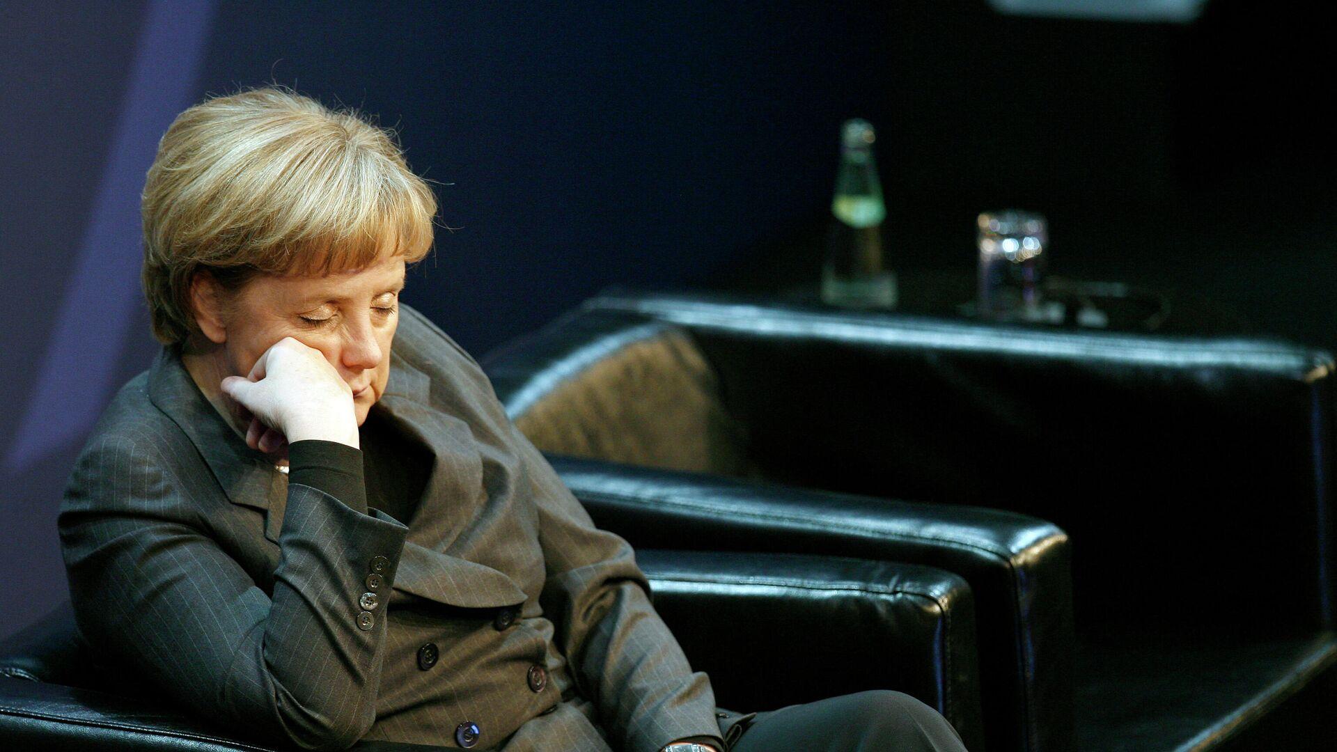 Bundeskanzlerin Angela Merkel bei einer Veranstalung der amerkanischen Softwarefirma Microsoft *2008( - SNA, 1920, 15.07.2021