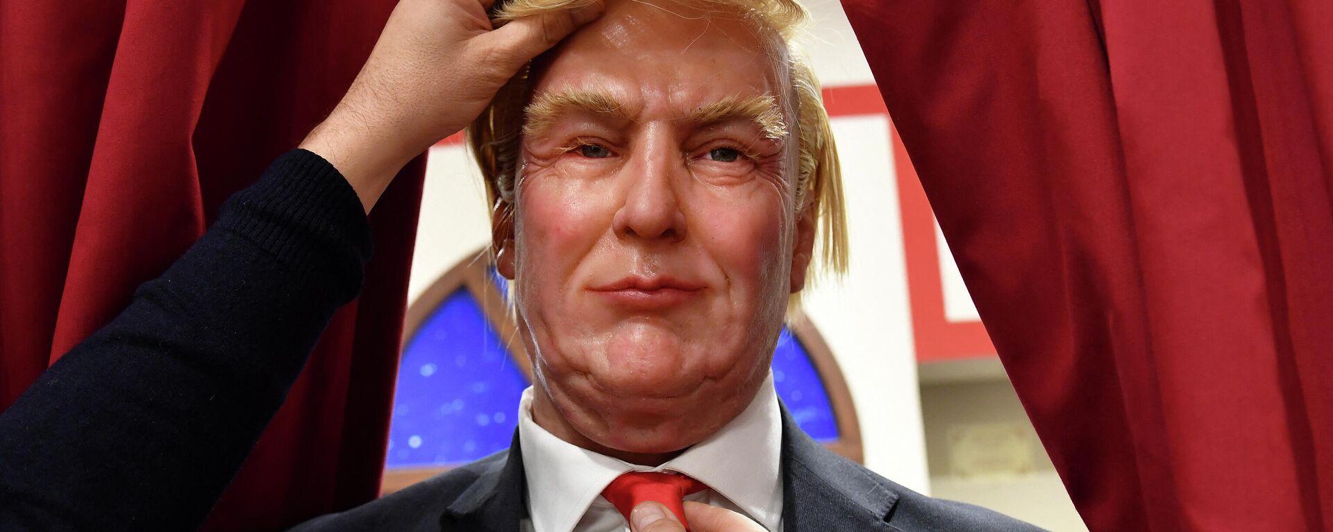 Die Skulptur des Ex-US-Präsidenten Donald Trump im Wachsmuseum von Rom, Dez. 8. 2016.  - SNA, 1920, 19.03.2021