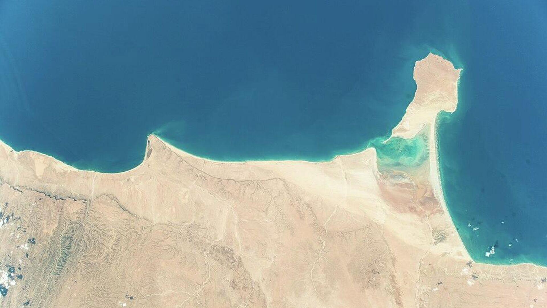 Satellitenfoto der Somalias Küste - SNA, 1920, 19.03.2021