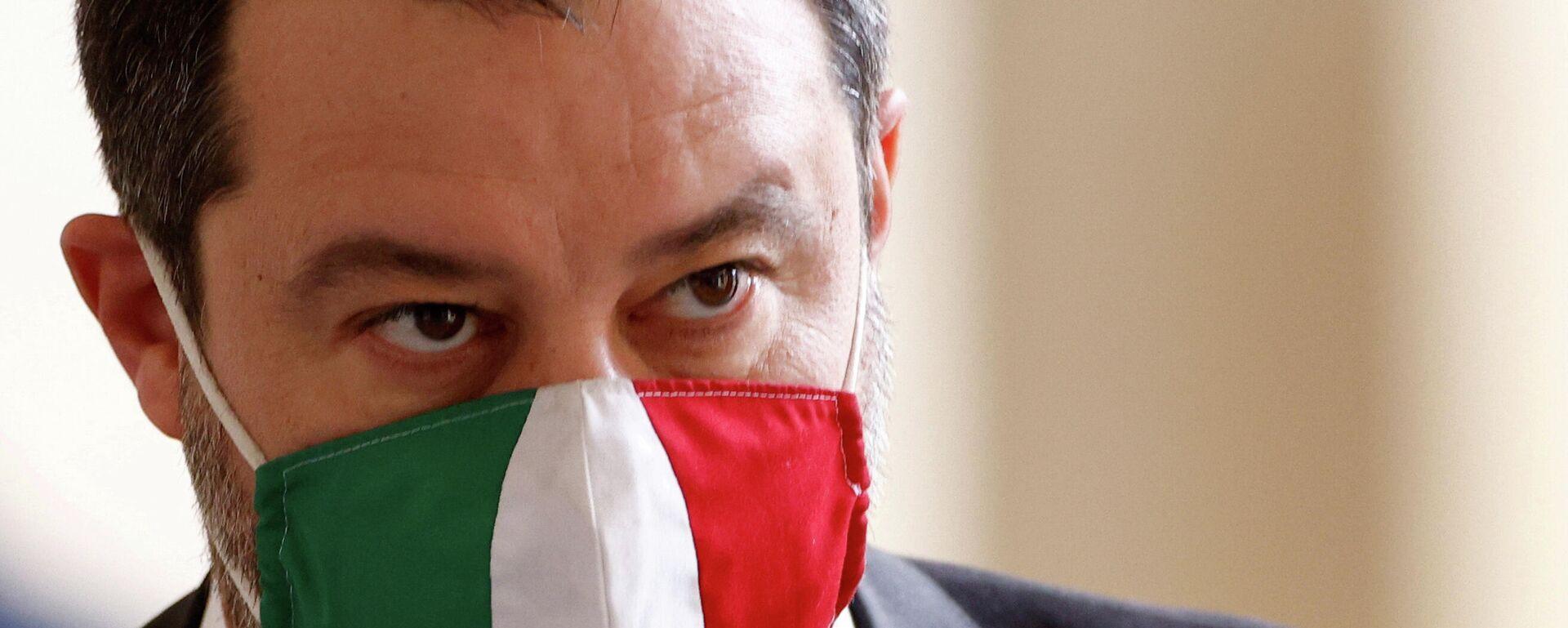 """Matteo Salvini, Parteivorstand der """"Lega"""" und Ex-Innenminister Italiens - SNA, 1920, 21.03.2021"""