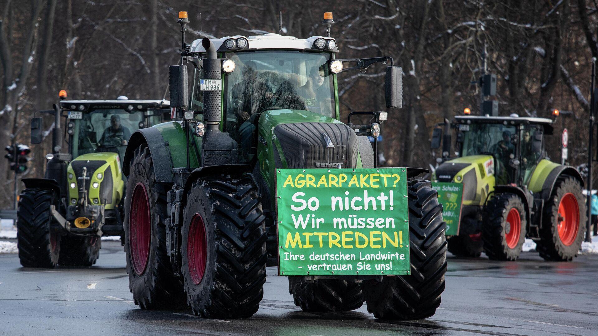 Bauernproteste gegen das Agrarpaket der Bundesregierung. Berlin, Februar 2021 - SNA, 1920, 23.03.2021