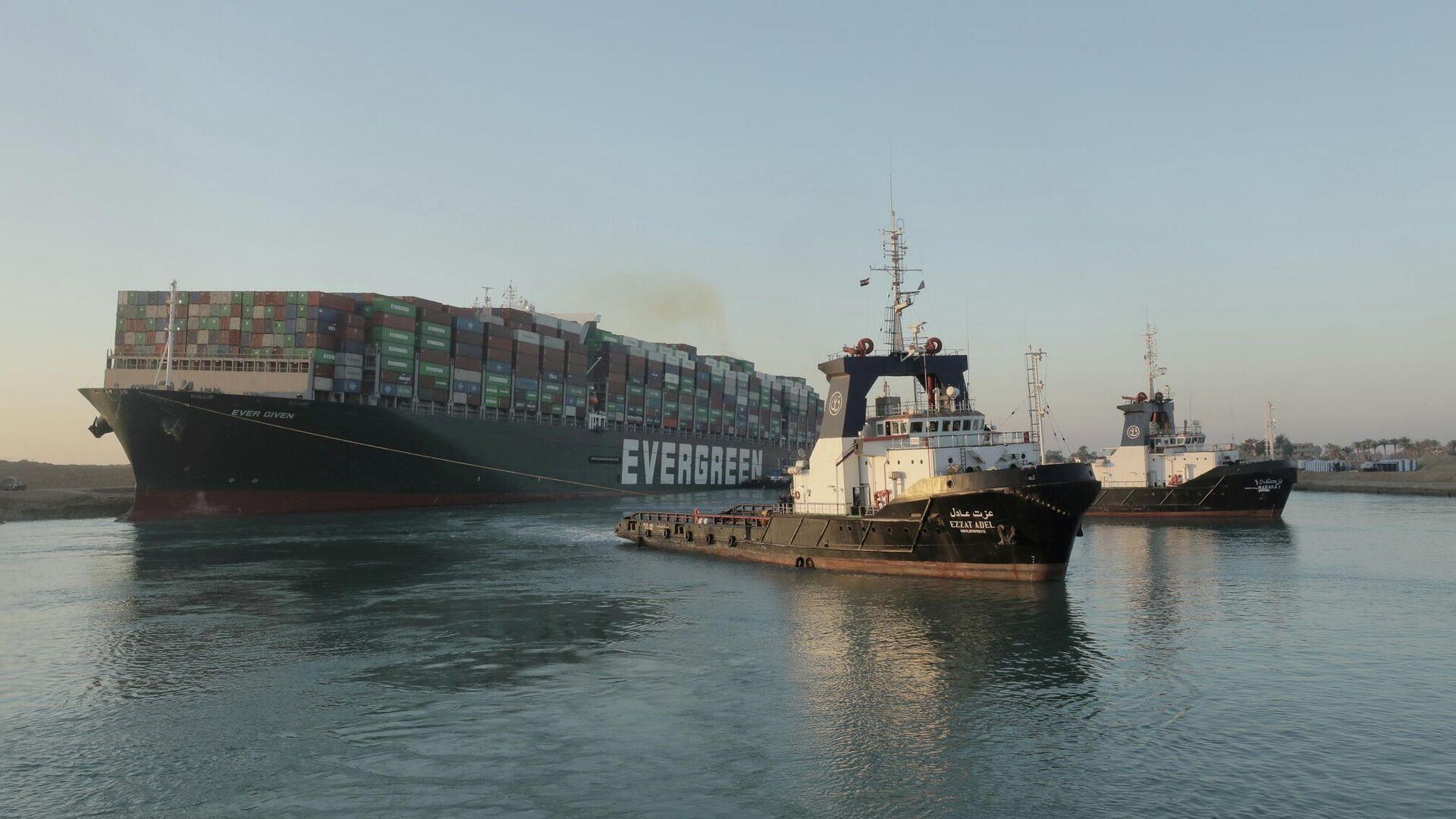 Containerschiff Ever Given im Suezkanal, 29. März 2021 - SNA, 1920, 29.03.2021