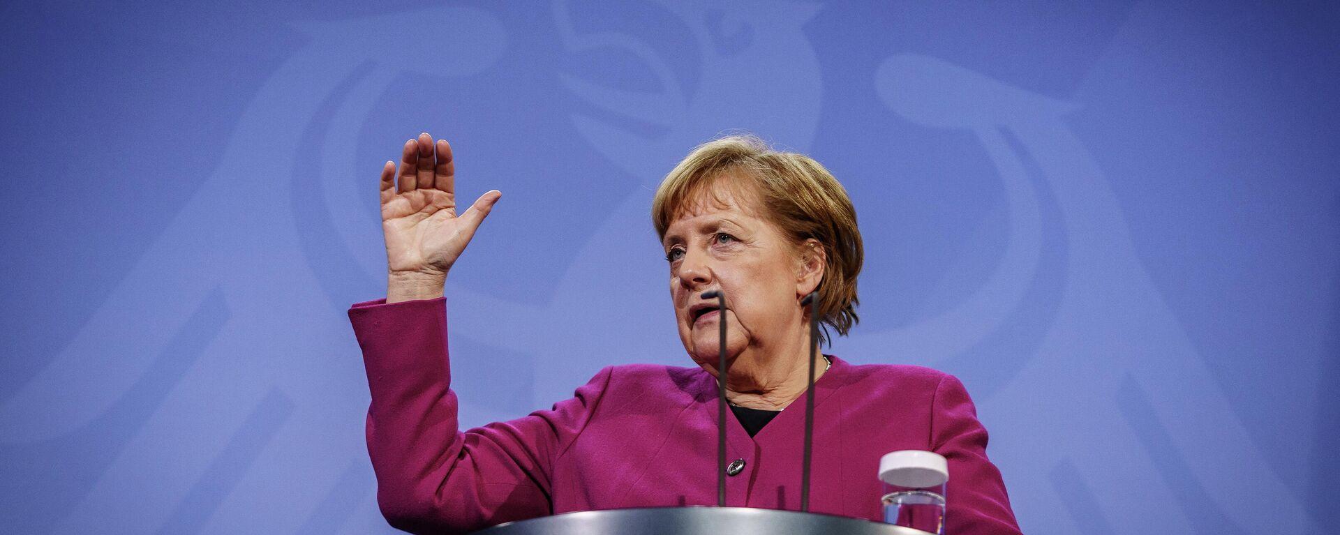 Bundeskanzlerin Angela Merkel bei einer Pressekonferenz (Archivbild) - SNA, 1920, 29.03.2021
