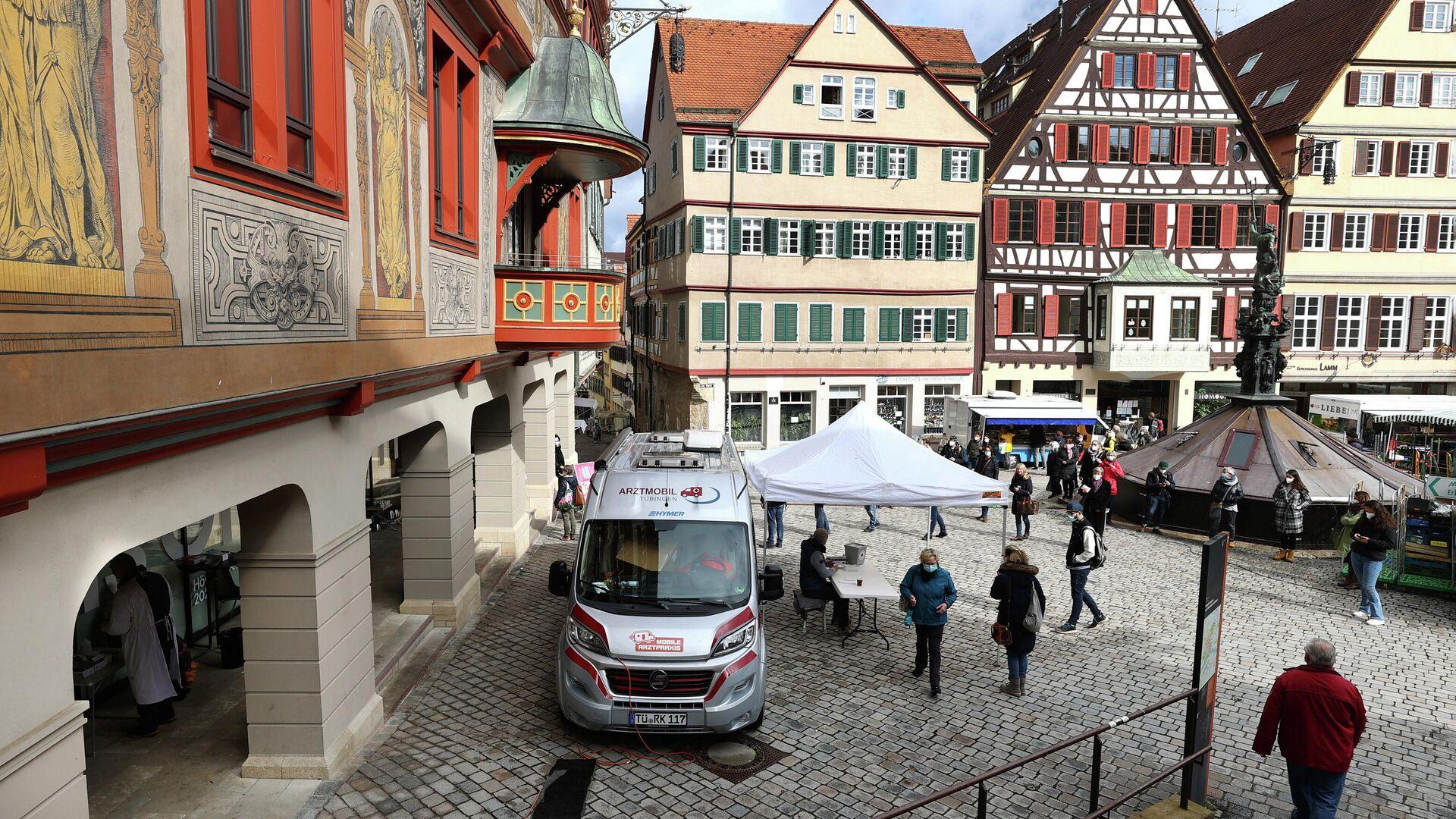 Stadtzentrum von Tübingen, Deutschland - SNA, 1920, 30.03.2021