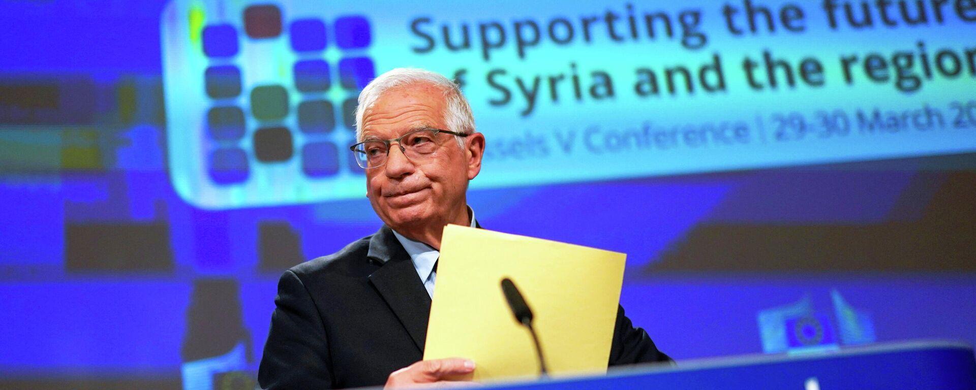 EU-Außenbeauftragter Josep Borrell referiert in der Syrien-Geberkonferenz. Brüssel, 30. März 2021 - SNA, 1920, 31.03.2021