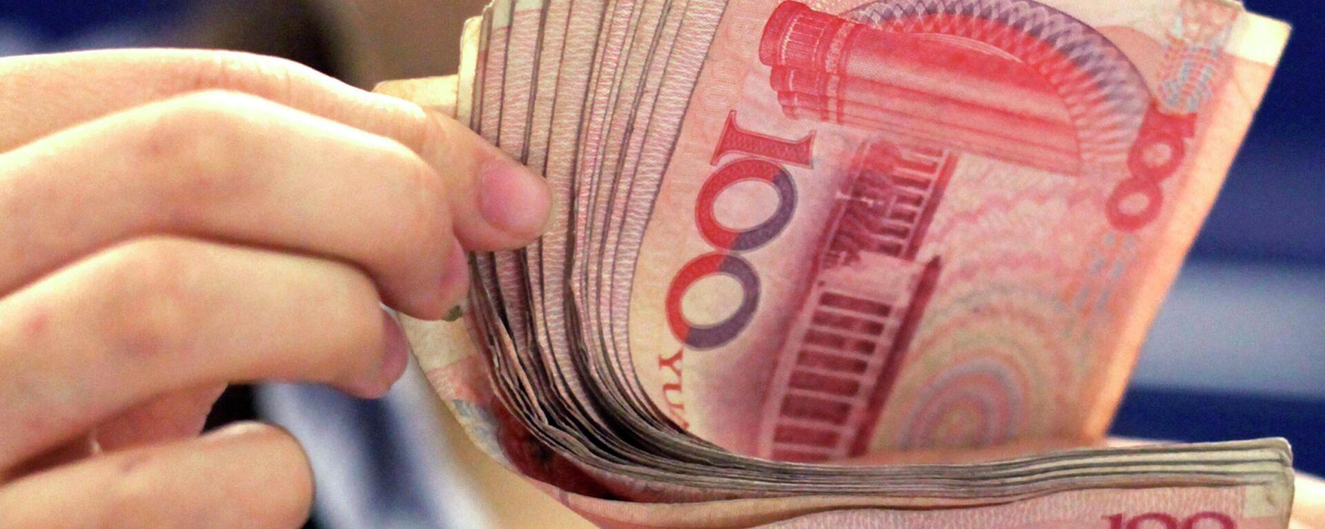 Yuan-Banknoten (Symbolbild) - SNA, 1920, 20.07.2021