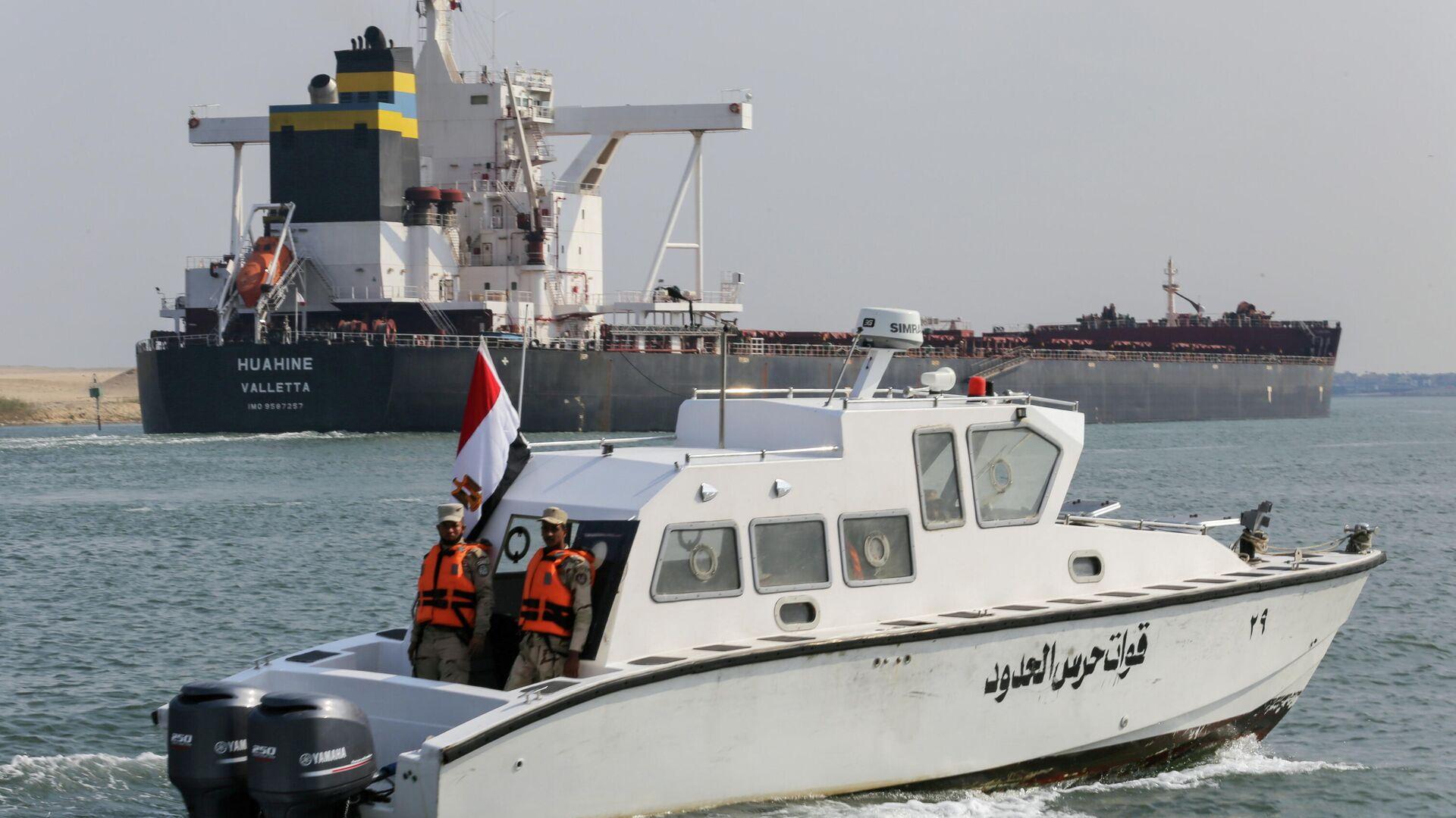 Schiffsverkehr im Suezkanal, 30. März 2021 - SNA, 1920, 03.04.2021