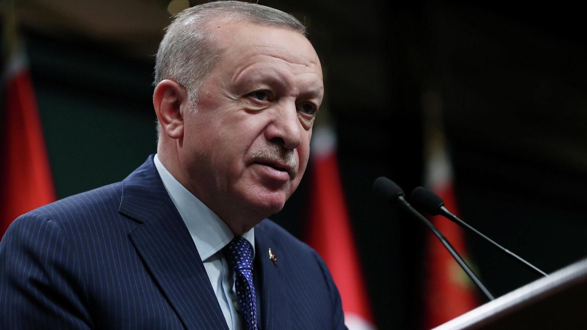 Der türkische Staatspräsident Recep Tayyip Erdogan - SNA, 1920, 23.07.2021