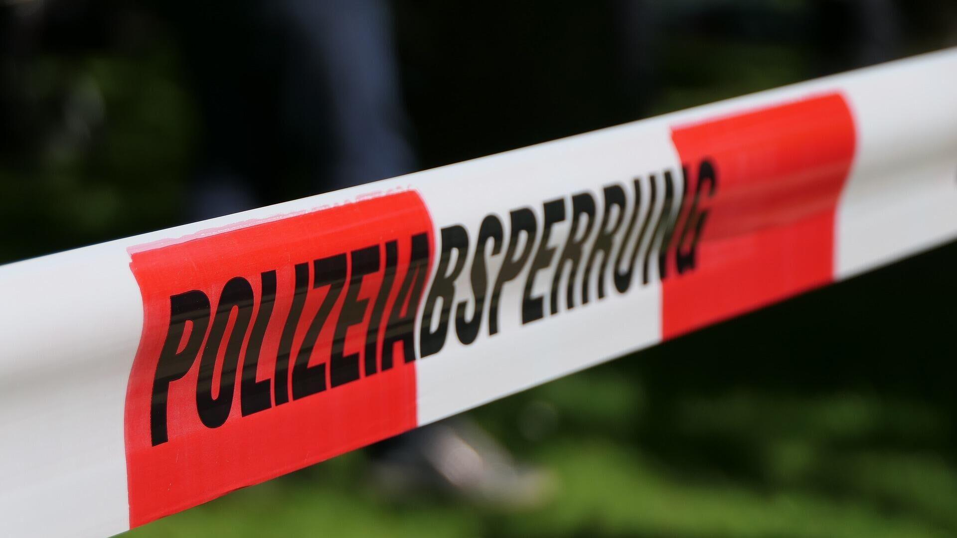 Polizeiabsperrung - SNA, 1920, 23.07.2021