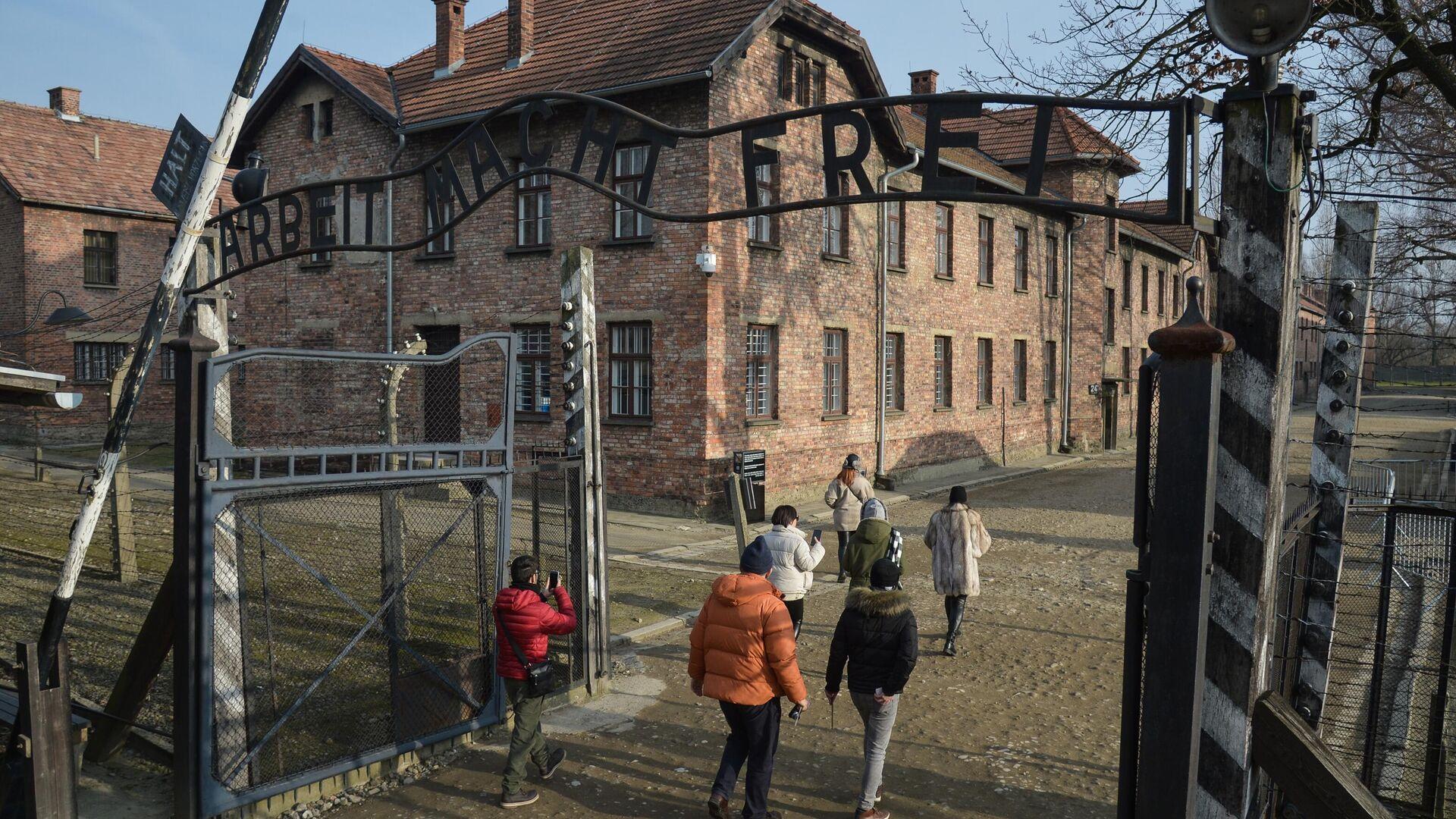 Besucher im ehemaligen Konzentrationslager Auschwitz-Birkenau (Archivbild) - SNA, 1920, 06.10.2021