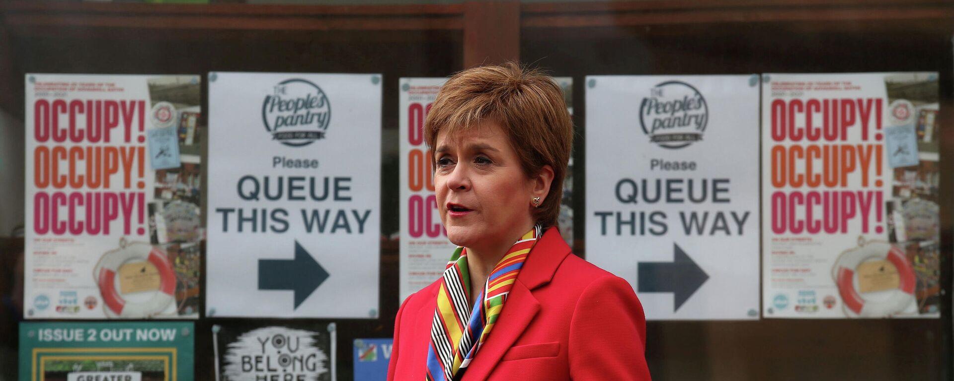 Schottlands Premierin Nicola Sturgeon - SNA, 1920, 12.04.2021