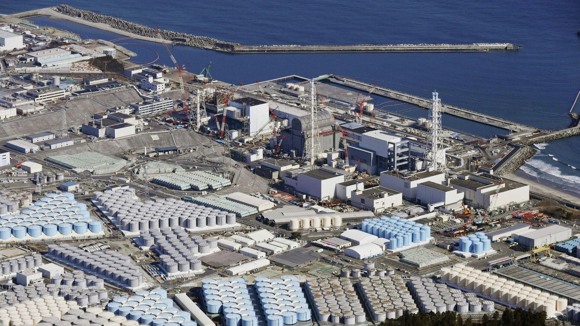 Behälter mit kontaminiertem Wasser im Kraftwerk Fukushima Daiichi, Okuma, Japan, der 13. Februar 2021 - SNA, 1920, 14.04.2021