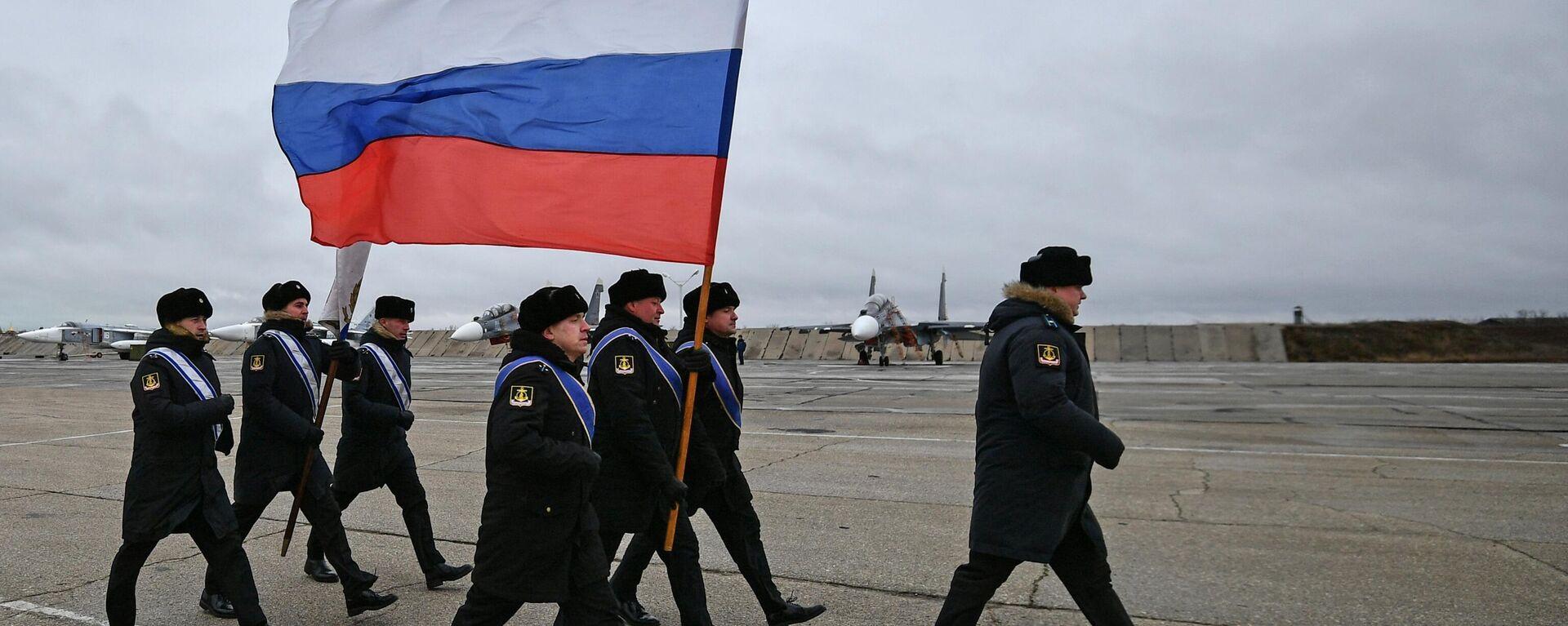 Russische Militärs auf einem Flugplatz auf der Krim (Archivbild) - SNA, 1920, 14.04.2021