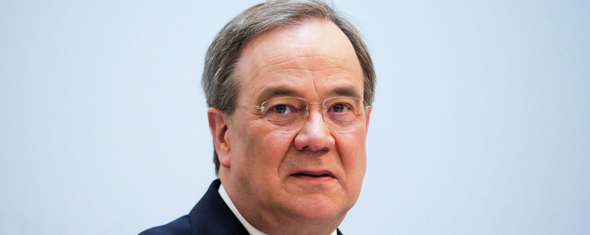 Armin Laschet, seit dem 22. Januar 2021 der neunte Bundesvorsitzende der CDU seit ihrer Gründung. Berlin 12. April 2021 - SNA, 1920, 03.05.2021