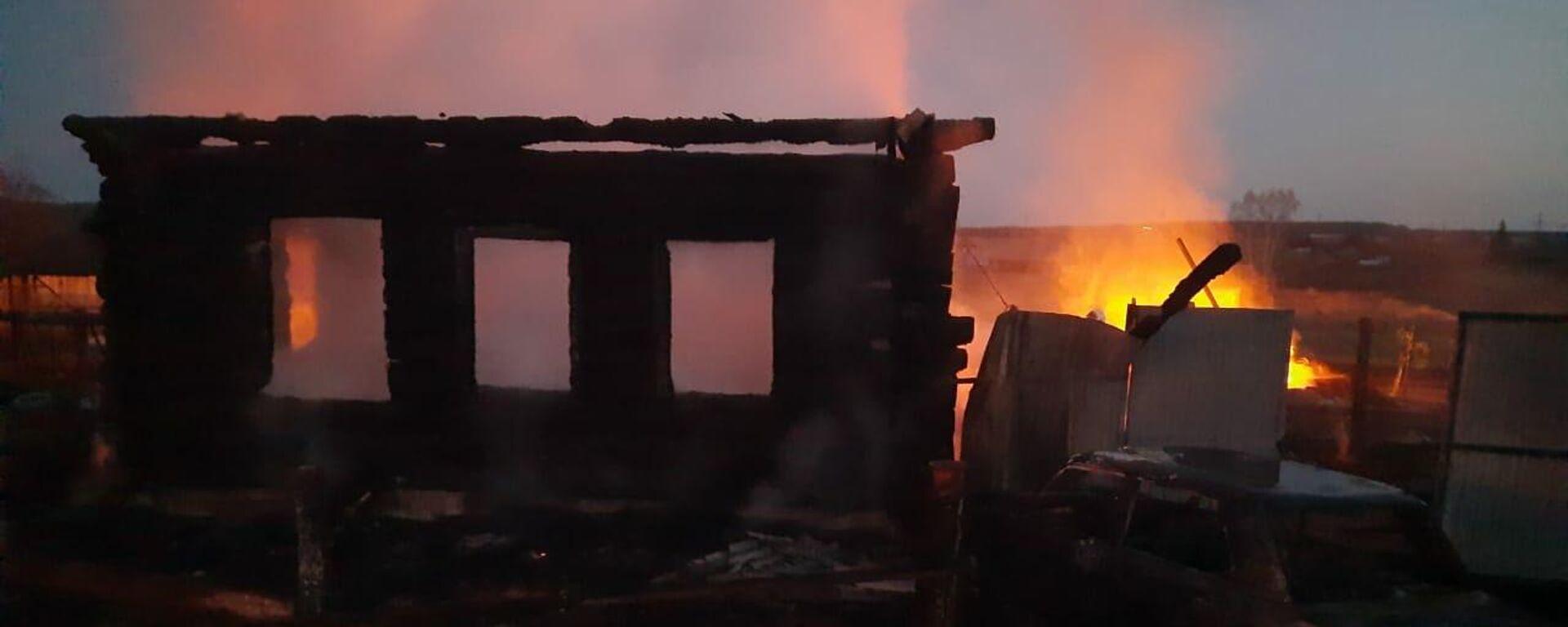 Wohnhausbrand im Dorf Bysowo (Ural) - SNA, 1920, 15.04.2021