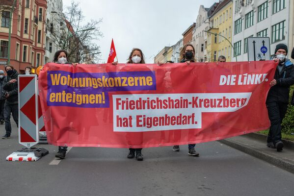 Demonstration gegen Mietdeckel - SNA
