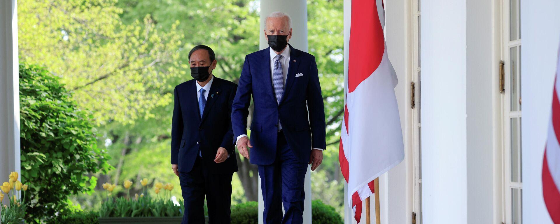 Ein Treffen von US-Präsident Joe Biden und dem japanischen Ministerpräsidenten Yoshihide Suga in Washington - SNA, 1920, 17.04.2021