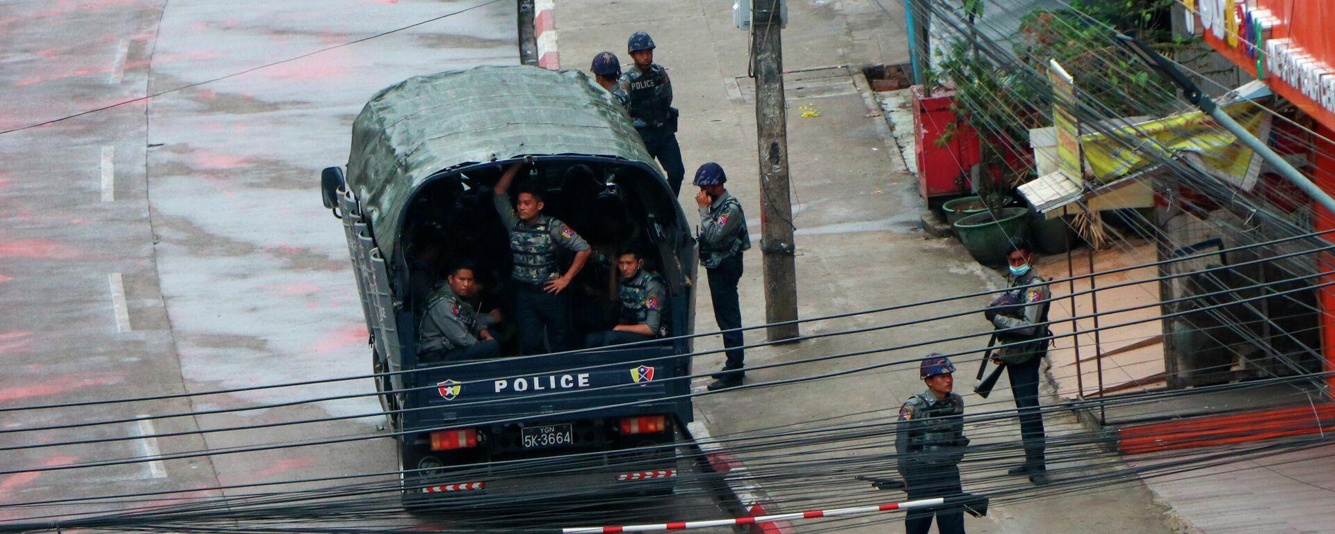 Polizeibeamte in Myanmar - SNA, 1920, 23.05.2021