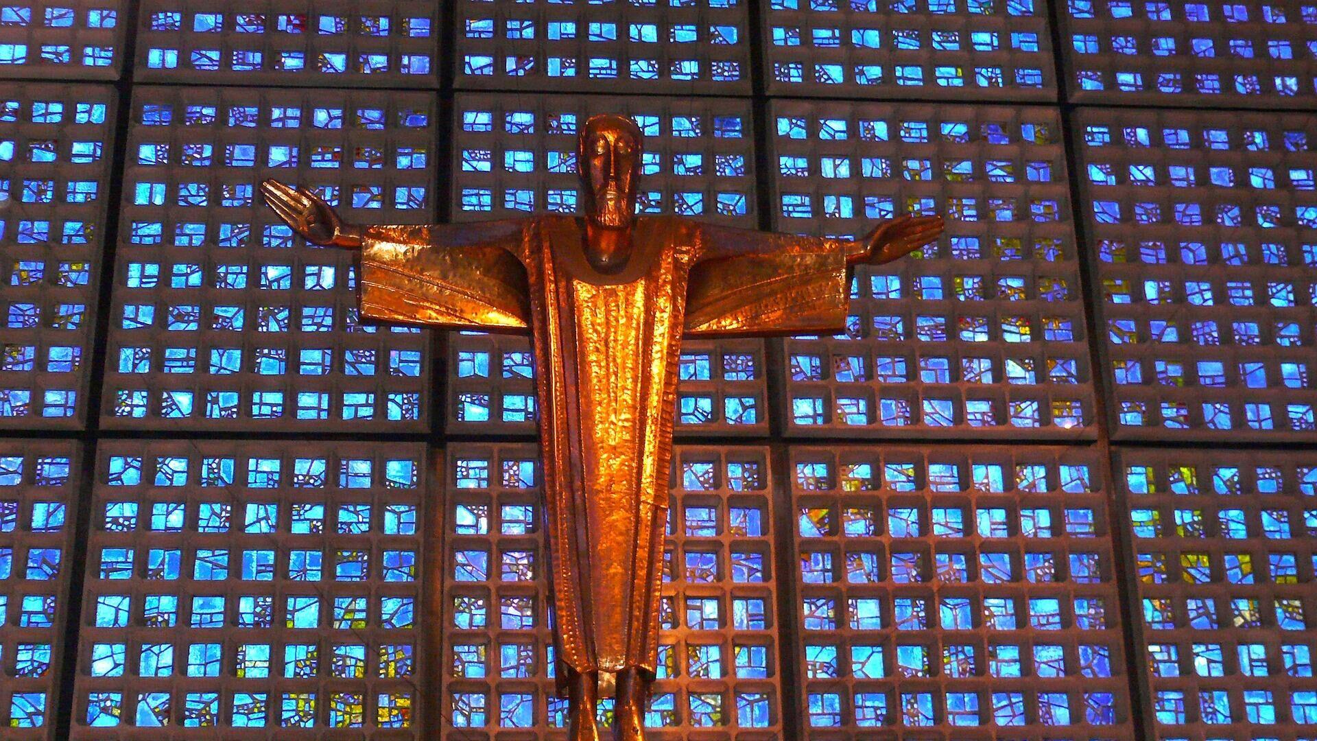 Kruzifix der Kaiser-Wilhelm-Gedächtnis-Kirche Berlin - SNA, 1920, 12.10.2021