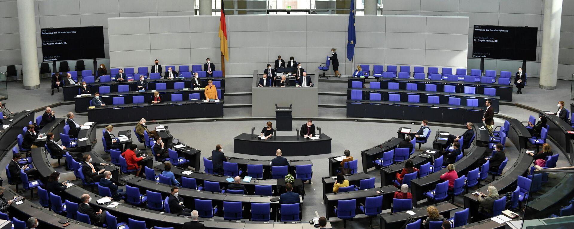 Plenarsitzung  im Bundestag - SNA, 1920, 21.04.2021