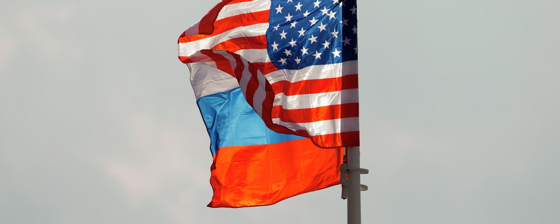 Russischen und Amerikanische Flaggen  - SNA, 1920, 03.05.2021