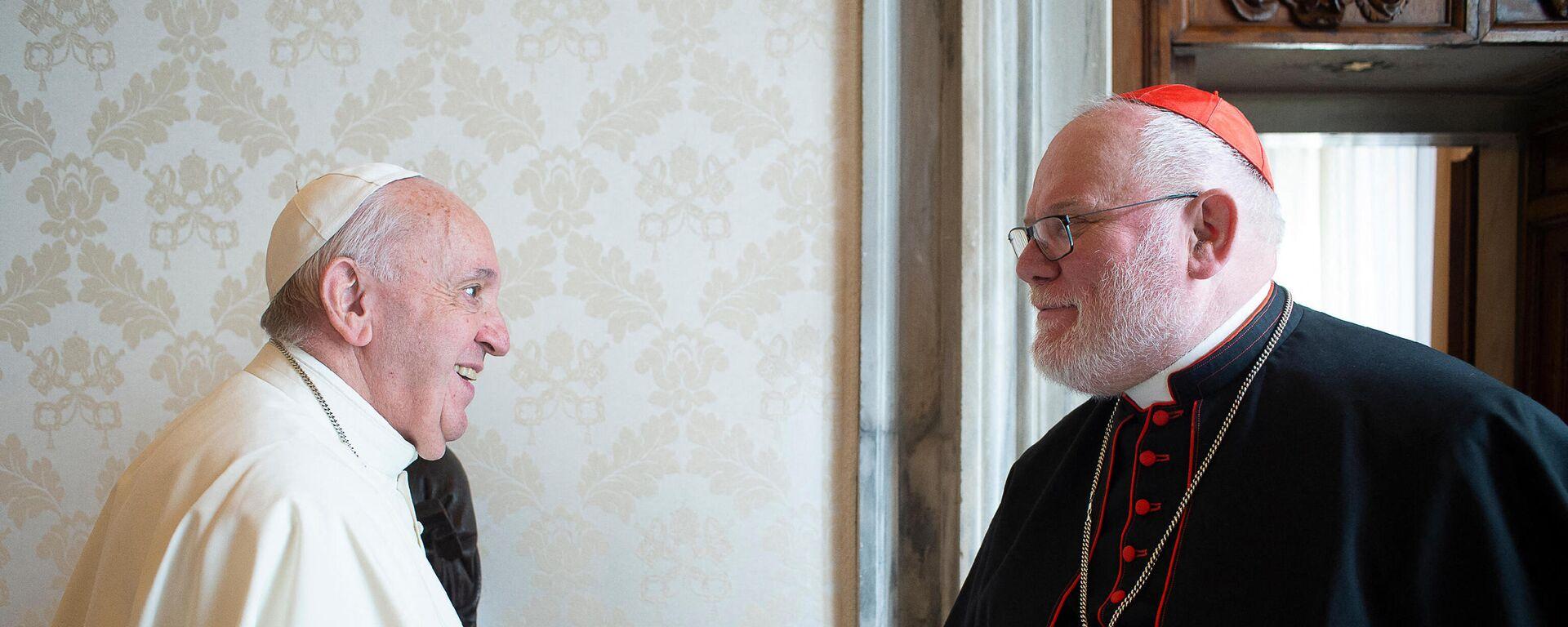 Kardinal Reinhard Marx und Papst Franziskus - SNA, 1920, 27.04.2021