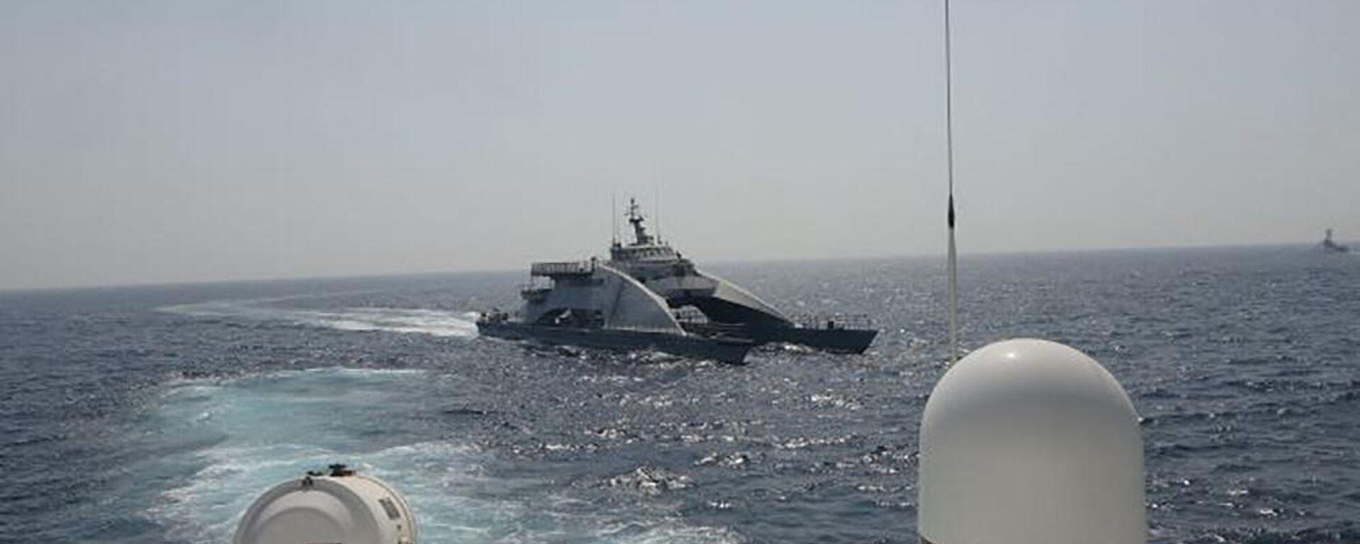 Ein Boot der Iranischen Revolutionsgarde  - SNA, 1920, 28.04.2021