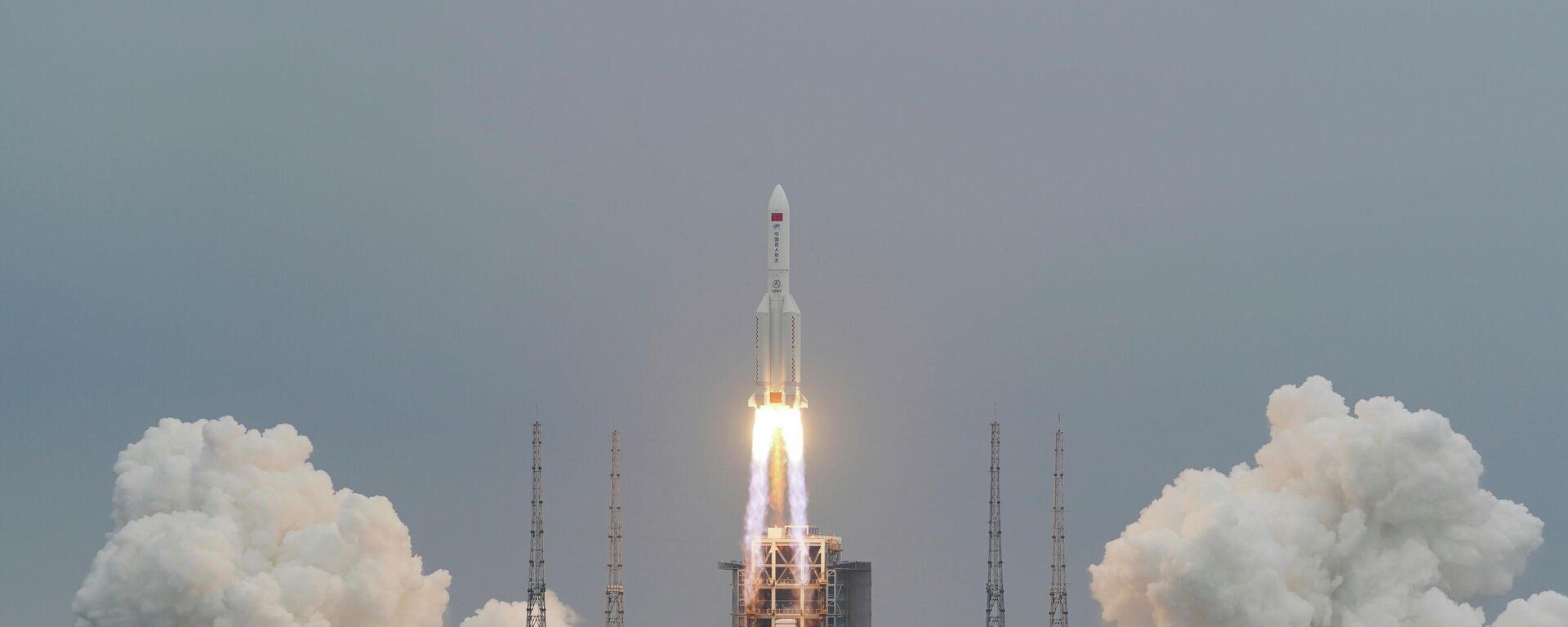 China startet Rakete für Bau neuer Weltraumstation - SNA, 1920, 29.04.2021