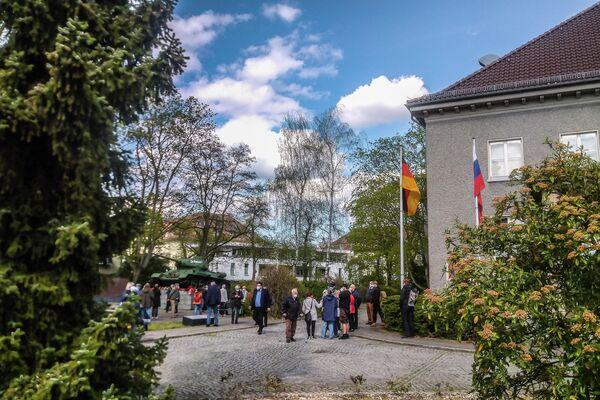 Kranzniederlegung am Deutsch-Russischen Museum in Berlin-Karlshorst 8. Mai 2021 - SNA