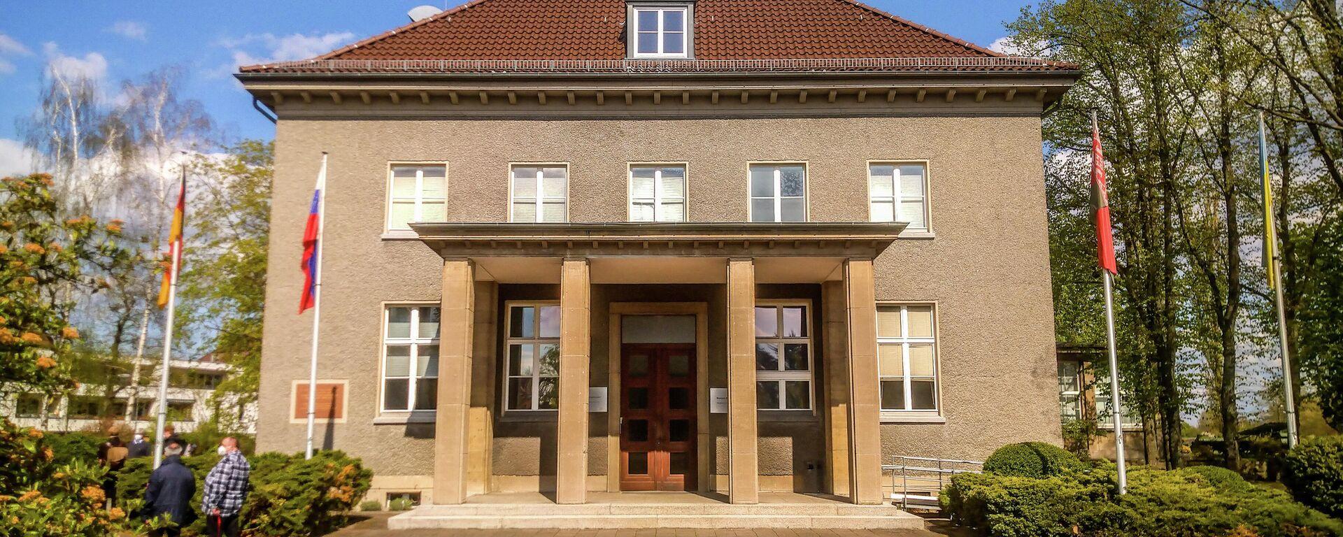 Kranzniederlegung am Deutsch-Russischen Museum in Berlin-Karlshorst 8. Mai 2021 - SNA, 1920, 08.05.2021